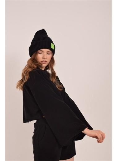 iandb Havlu Crop Sweatshirt Siyah